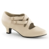 DAME-02 Cream Faux Leather